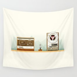 Old Record Wall Tapestry