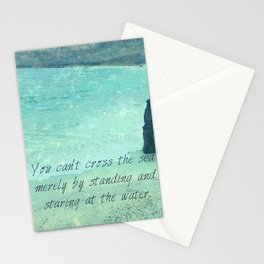 Sea Ocean Goal Choices quote Stationery Cards