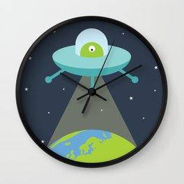 Space Alien Wall Clock