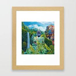 Gorilla in the jungle Framed Art Print
