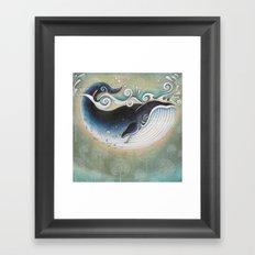 the Blue Whale Framed Art Print