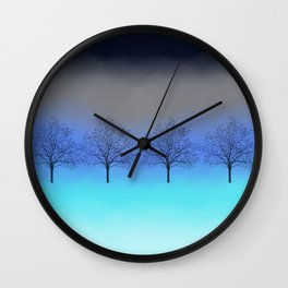Abstract trees Wall Clock