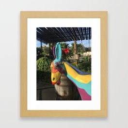 Colorful Donkey Framed Art Print