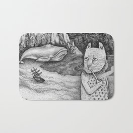 The Whale, The Castle & The Smoking Cat Bath Mat