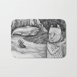 The Whale, The Castle & The Smoking Cat Bath Mat