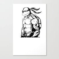 tmnt Canvas Prints featuring tmnt by CarlosG