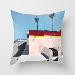 Street View Journey: Los Angeles Throw Pillow