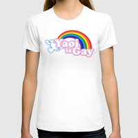 yaoi T-shirts featuring Yaoi is Gay (High Contrast Version with T-shirts) by merimeaux