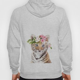 Tiger Cub with Flower Crown Hoody