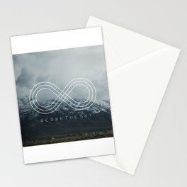 WE OWN THE SKY - Hipster quotes Stationery Cards