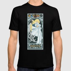 Odette Nouveau - Swan Princess Black Mens Fitted Tee LARGE
