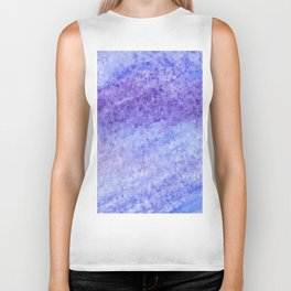 Blue abstract watercolor Biker Tank