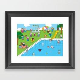 Pool XL Framed Art Print