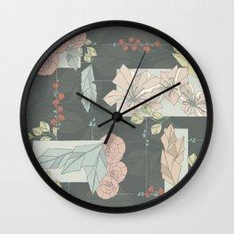 Flower Fracas Wall Clock