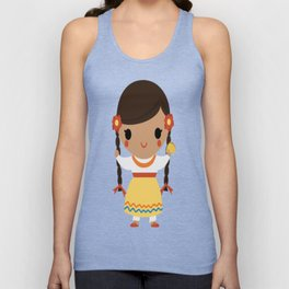 Mexican Girl Unisex Tank Top