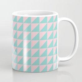 Geo Triangles in Pink + Atomic Mint Coffee Mug