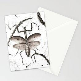 Praying Mantis watercolor Stationery Cards