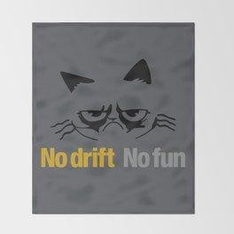No drift No fun v1 HQvector Throw Blanket
