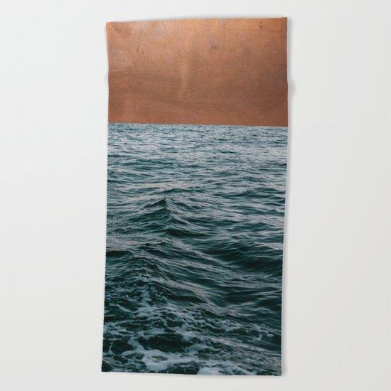 Ocean + Copper #society6 #buyart #decor Beach Towel