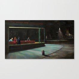 Nighthawks (oil on canvas) Canvas Print