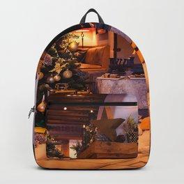 Holiday Christmas Fireplace Gift Christmas Tree Gu Backpack