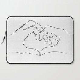 line art heart hands Laptop Sleeve