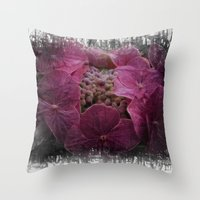 hydrangea Throw Pillows featuring Hydrangea by Paul & Fe Photography