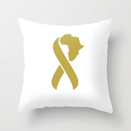 Fighting Childhood Cancer in Africa Throw Pillow
