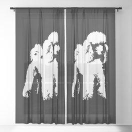 PET POODLE DOG Sheer Curtain