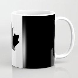 Canada: Black Military Flag Coffee Mug