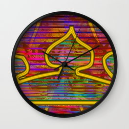 Playing with a crown ... Wall Clock
