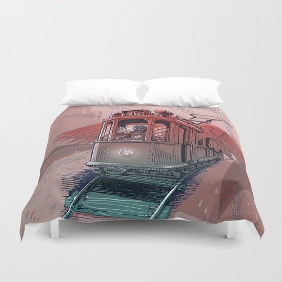 Winged Tram Duvet Cover