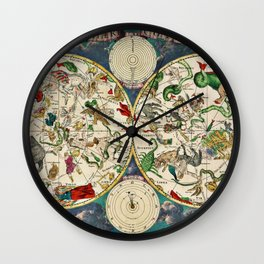 Antique Celestial Sky Map Wall Clock