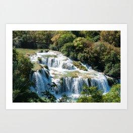 Waterfall in Krka National Park - Croatia Art Print