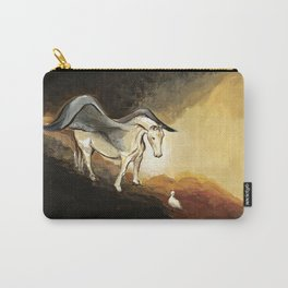 Winged horse with seagull - Silver Stream Children's Book illustration Carry-All Pouch