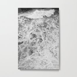 The Waves (Black and White) Metal Print