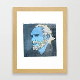 CHARLES BUKOWSKI, AMERICAN WRITER AND BARFLY Framed Art Print