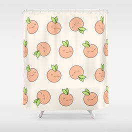 Happy Peach Shower Curtain