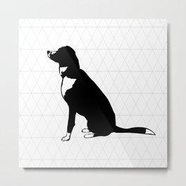 Geometric dog Metal Print
