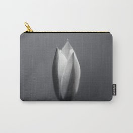Fairy Tulip Bud in Black and White Carry-All Pouch
