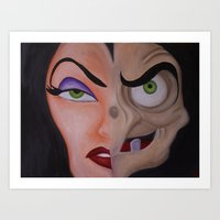 evil queen Art Prints featuring Evil Queen by Jgarciat