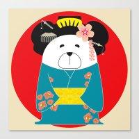 geisha Canvas Prints featuring Geisha by EinarOux