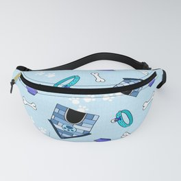 Dog Paradise in Blue Fanny Pack