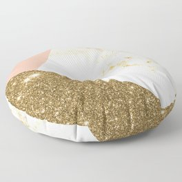 Gold marble collage Floor Pillow