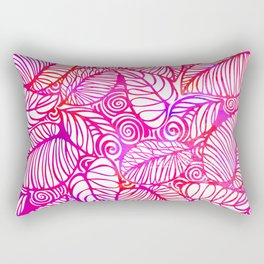 Leaves abstract pattern Rectangular Pillow