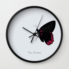 Sad butterfly Wall Clock