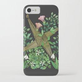 Saint Brigid's Cross in the Celtic Spring iPhone Case