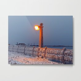 The Chill is On Metal Print
