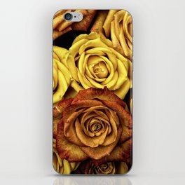 Golden Yellow Roses Pattern (Color) iPhone Skin