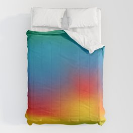 Abstract Colorful Aurora Comforters